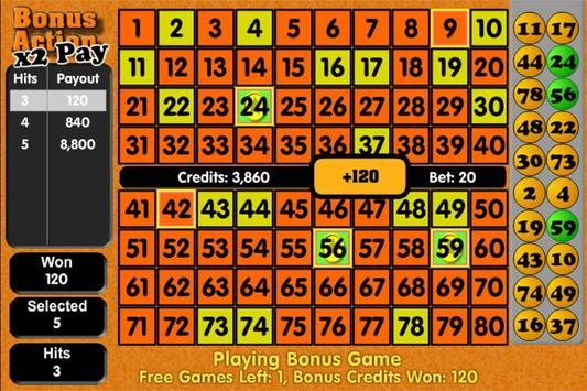 Keno - Tornado Games Style screenshot 2
