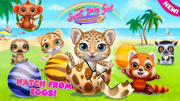 Sweet Baby Girl Summer Fun 2 - Sunny Makeover Game Cartaz