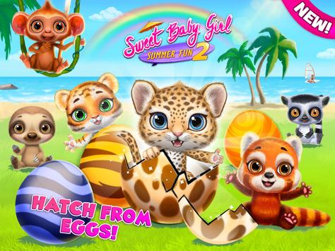 Sweet Baby Girl Summer Fun 2 - Sunny Makeover Game imagem de tela 16
