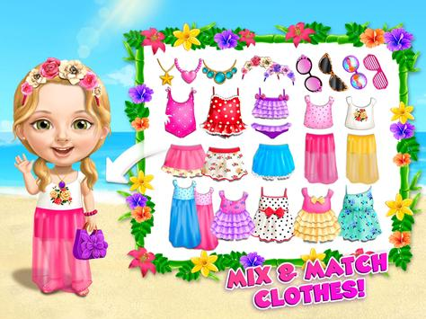 Sweet Baby Girl Summer Fun 2 - Sunny Makeover Game imagem de tela 10