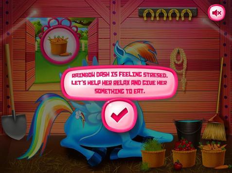 Princess rainbow Pony game poster
