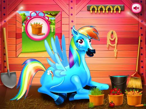 Princess rainbow Pony game screenshot 11