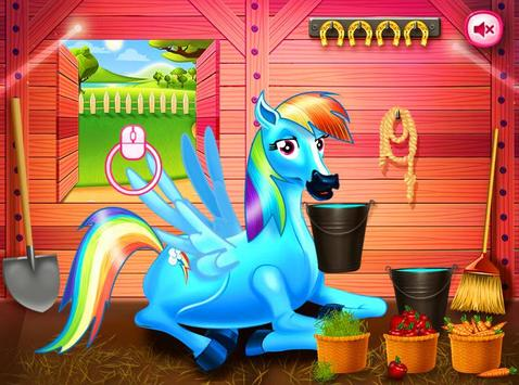 Princess rainbow Pony game screenshot 12