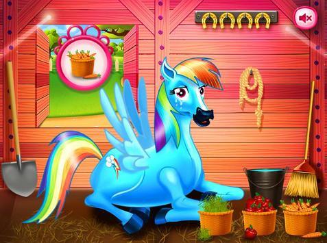 Princess rainbow Pony game screenshot 1