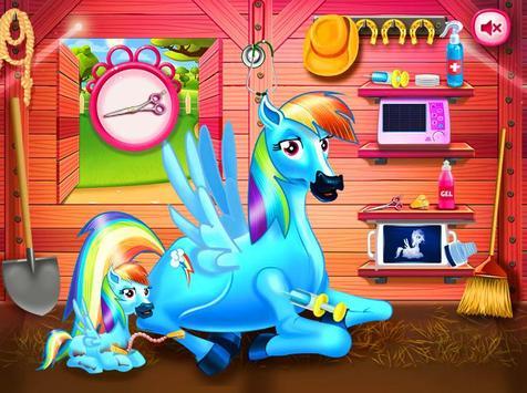 Princess rainbow Pony game screenshot 4
