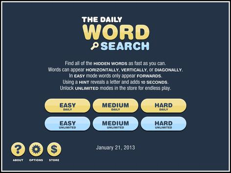 Daily Word Search poster