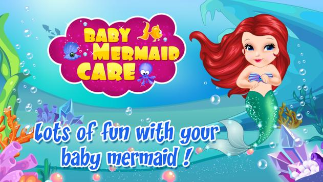 Baby Mermaid Care poster