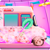 Girly Ice Cream Truck Car Wash icon