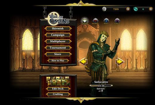 War of Omens Deck Builder Collectible Card Game screenshot 1