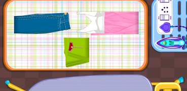 Ironing clothes girls games