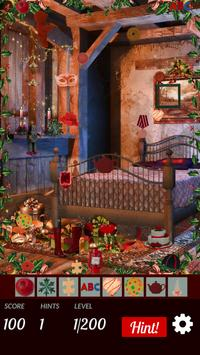 Hidden Objects Cozy Xmas: Colorful Christmas poster
