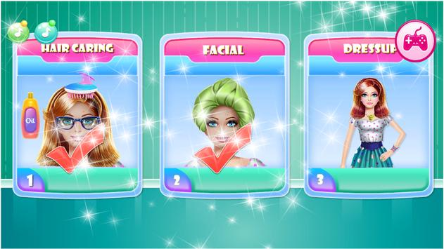 Games Hair Salon:  love  Hairstyle Color Makeover screenshot 16