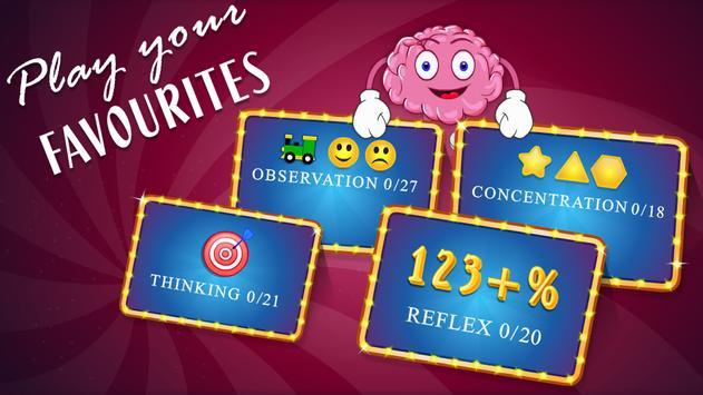 Brain Games Mind IQ Test - Trivia Quiz Memory screenshot 2