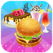 Homemade Burger and Dessert Cooking Game icon