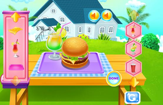 Homemade Burger and Dessert Cooking Game screenshot 1