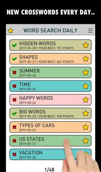 Word Search Daily PRO (500+ Levels) screenshot 1
