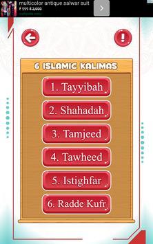 Arabic alphabets and 6 kalimas screenshot 19