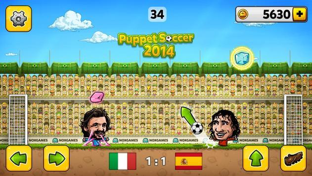 ⚽Puppet Soccer 2014 - Big Head Football 🏆 screenshot 2