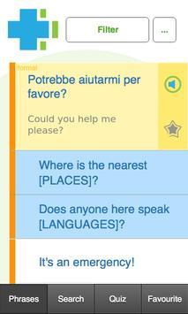 Learn Italian Phrasebook screenshot 1