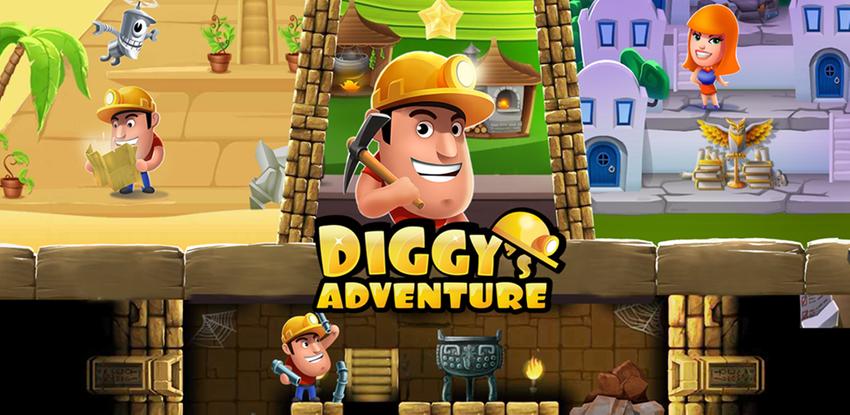 Diggy's Adventure: Puzzle Logika Seru & Labirin APK