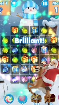 Christmas Crunch❄️ match 3 games & candy puzzle poster