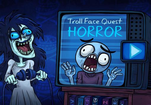 Troll Face Quest Horror-poster