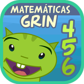 Matemáticas con Grin I para niños 4,5,6 años icon