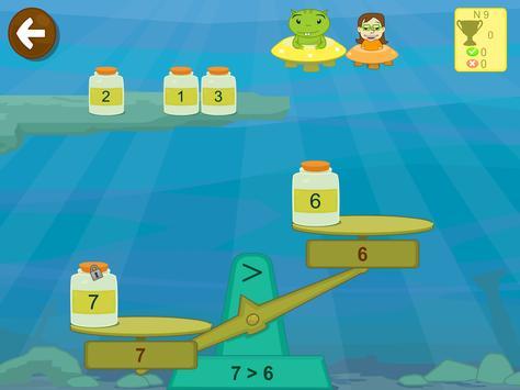 Matemáticas con Grin I para niños 4,5,6 años screenshot 2