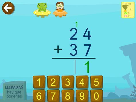Matemáticas con Grin I para niños 4,5,6 años screenshot 3