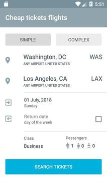 Air flight booking poster