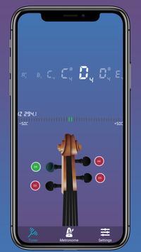скрипка тюнер - тюнер для виолы, виолончели постер