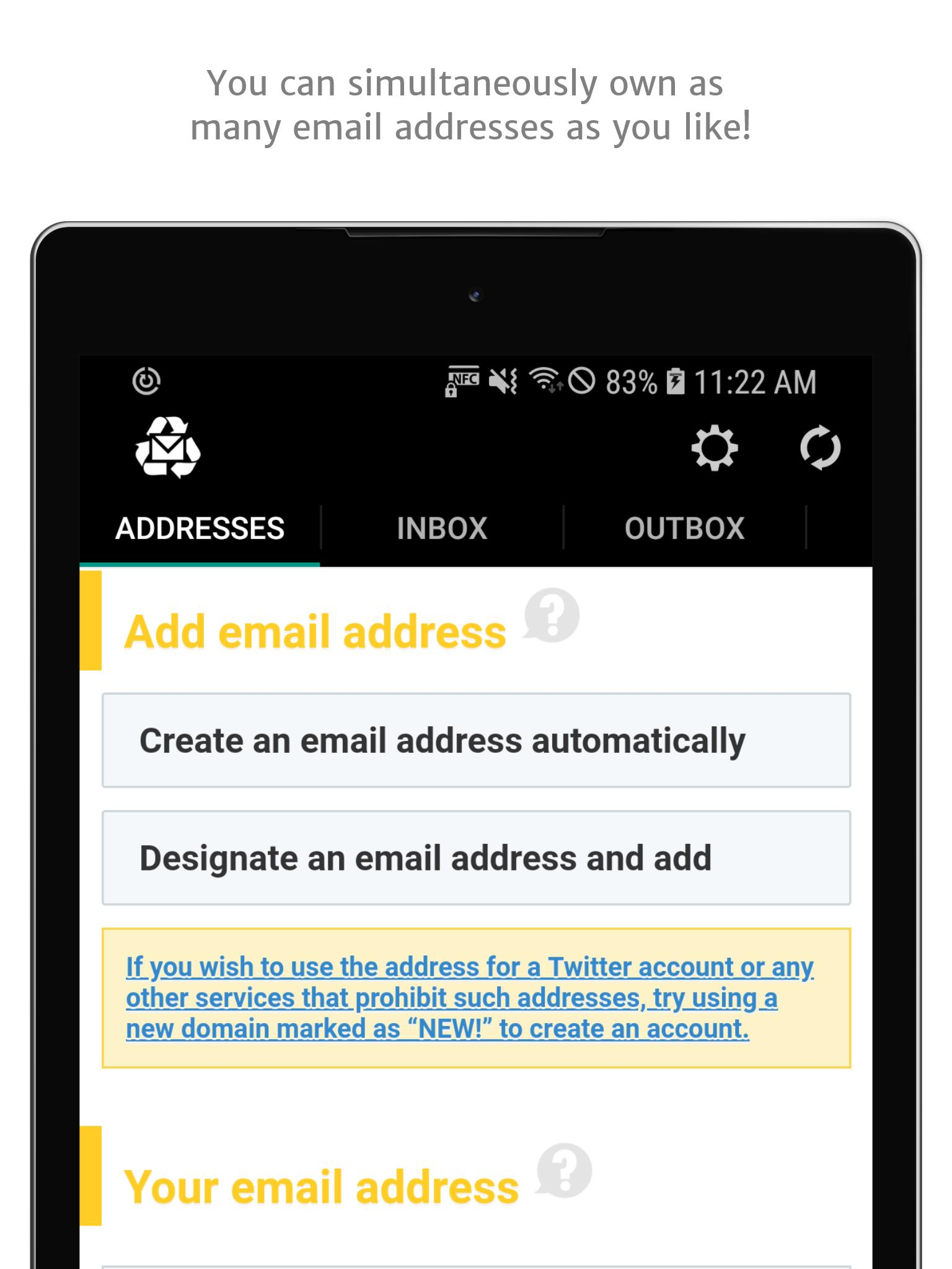 Instant Email Address - Multipurpose free email! for Android - APK