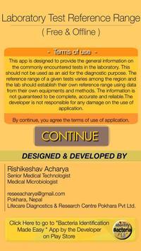 Lab Test Reference Range (Free & Offline) poster