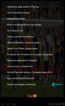 Canciones y Letras River Plate poster