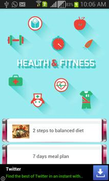 Health & Fitness Tips poster