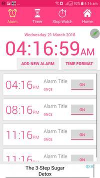 Alarm Clock AVA talking clock batteryFull Alarm tm screenshot 2