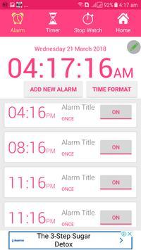 Alarm Clock AVA talking clock batteryFull Alarm tm screenshot 7