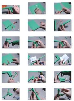 How To Make A Paper Gun That Shoots | How To Instructions | 355x260