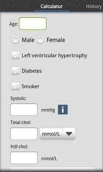 Cardiac risk calculator poster