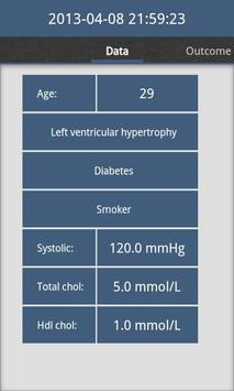 Cardiac risk calculator screenshot 3