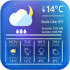 weather clock and widget for android أيقونة