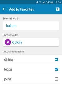Indonesian-Italian Dictionary screenshot 7