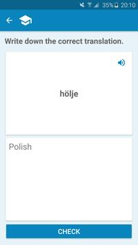 Polish-Swedish Dictionary screenshot 4