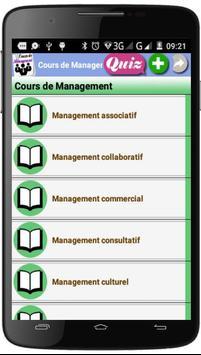 Cours de Management poster