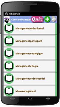 Cours de Management screenshot 4