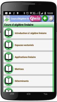 Cours  d'Algèbre Linéaire poster