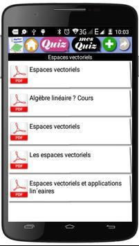 Cours  d'Algèbre Linéaire screenshot 1