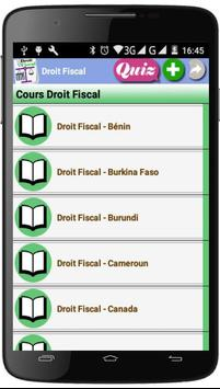 Cours de Droit Fiscal poster