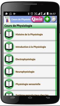 Cours de Physiologie poster