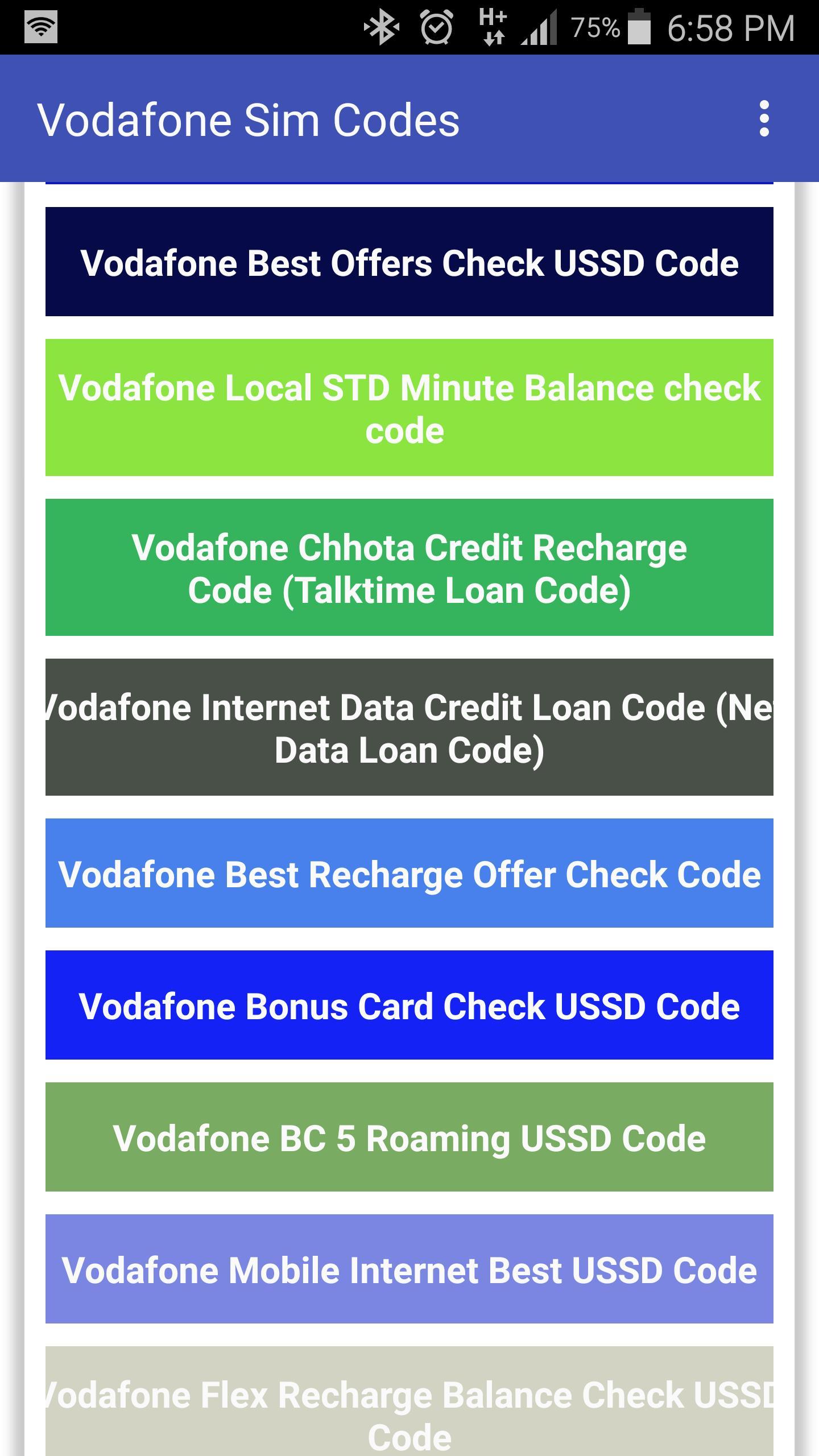 Vodafone Data Sim